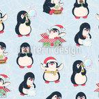 Wichtel Pinguine Nahtloses Vektormuster