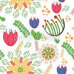 Frühlings Festival Nahtloses Vektormuster