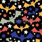 Halloween Bats Repeating Pattern