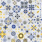 Elegant Snowflakes Seamless Vector Pattern Design