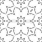 装飾されたスターライン シームレスなベクトルパターン設計