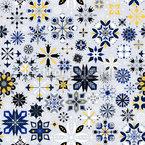 Festliche Eiskristalle Nahtloses Muster