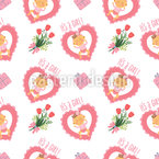 Babygirl Seamless Vector Pattern Design