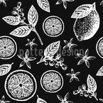 Vintage Zitronenblüte Nahtloses Vektormuster