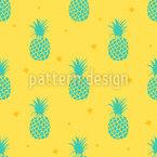Still Pineapples Seamless Vector Pattern Design