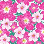 Hibiskus Blüte Nahtloses Vektormuster