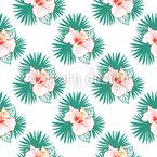 Hibiskus-Dschungel Nahtloses Vektormuster