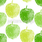 Reifer Apfelbaum Nahtloses Vektormuster