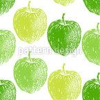 熟したリンゴの木 シームレスなベクトルパターン設計