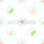 Underwater Bubbles Seamless Vector Pattern Design