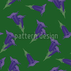 Gentian Green Seamless Vector Pattern Design