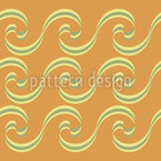 Curly Waves Border Repeat Pattern