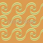 Gelockte Wellen Bordüre Nahtloses Vektormuster