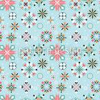 Festliche Florale Schneeflocken Muster Design