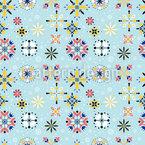 Geschmückte Schneeflocken Musterdesign