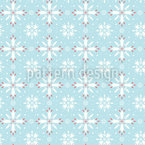 Fröhliche Schneeflocken Nahtloses Vektormuster