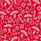 クリスマス・落書き シームレスなベクトルパターン設計