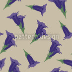 Gentian Beige Repeat Pattern