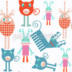 Monsters everywhere Pattern Design