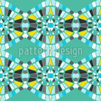レトロなモザイク接続 シームレスなベクトルパターン設計