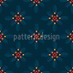 Ilex Estrelas Design de padrão vetorial sem costura