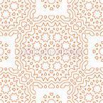 Schmeichelnde Linien Vektor Ornament
