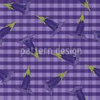Blauer Enzian Musterdesign