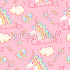 Magical Unicorn Seamless Vector Pattern Design