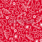 Festive Elements  Repeating Pattern