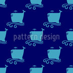 Happy Whale Repeat Pattern