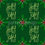 Jolly Christmas Seamless Vector Pattern Design