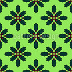 Christmas Flower Repeat Pattern