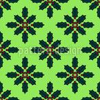Weihnachts-Blume Nahtloses Vektormuster