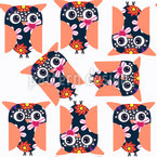 Dancing Owls Pattern Design