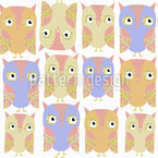 Mindful Owls Pattern Design