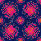 Spiral Nebula Seamless Vector Pattern Design