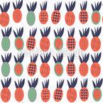 Leuchtende Ananas Nahtloses Muster