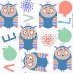 Charming Owls Vector Pattern
