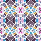 Kaleidoscope geometry Seamless Vector Pattern Design