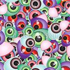 Unheimliche Monster Augen Nahtloses Vektormuster
