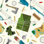 Equipamentos de Caça Design de padrão vetorial sem costura