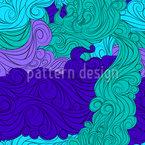 カーリーウェーブ・スカイ シームレスなベクトルパターン設計