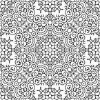 Ornamentale Verzierungen Rapportiertes Design