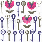 Curlicue Keys Vector Pattern