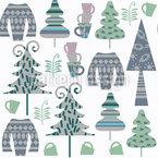 居心地の良い冬 シームレスなベクトルパターン設計