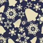 Schneeflocken Und Glocken Nahtloses Vektormuster