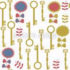 Squiggly Keys Pattern Design