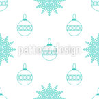 Snowflakes And Baubles Pattern Design