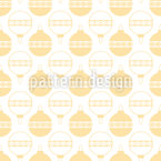 Arranged Baubles Seamless Pattern