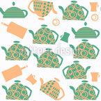 Expresso de chá Design de padrão vetorial sem costura